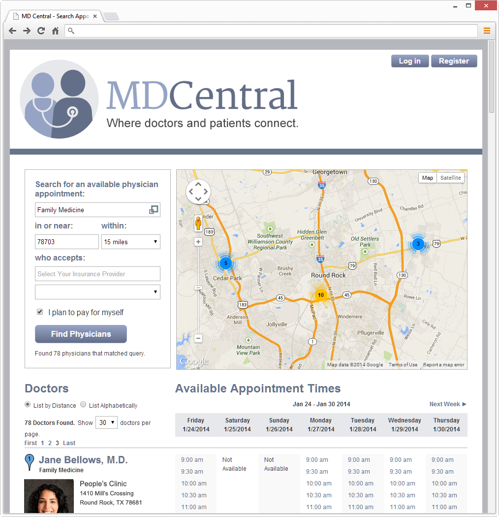 MDCentral Main Search