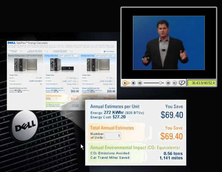 Michael Dell Presents Energy Calculator by Vertex