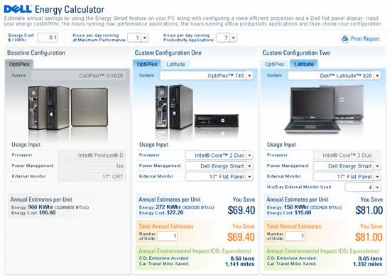Dell Energy Calculator by Vertex